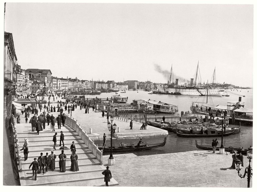 Photo of vintage-bw-photos-of-venice-italy-in-19th-century-12