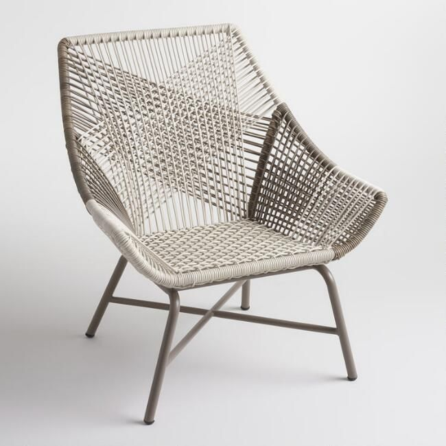 Admirable Gray Woven All Weather Wicker Andalusia Outdoor Chair V1 Creativecarmelina Interior Chair Design Creativecarmelinacom