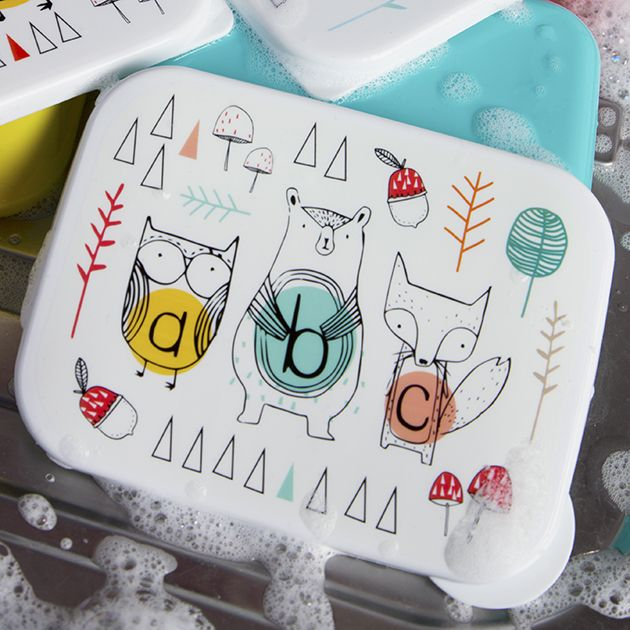 https://www.sassandbelle.co.uk/Alphabet Animals Rectangular Lunch Box