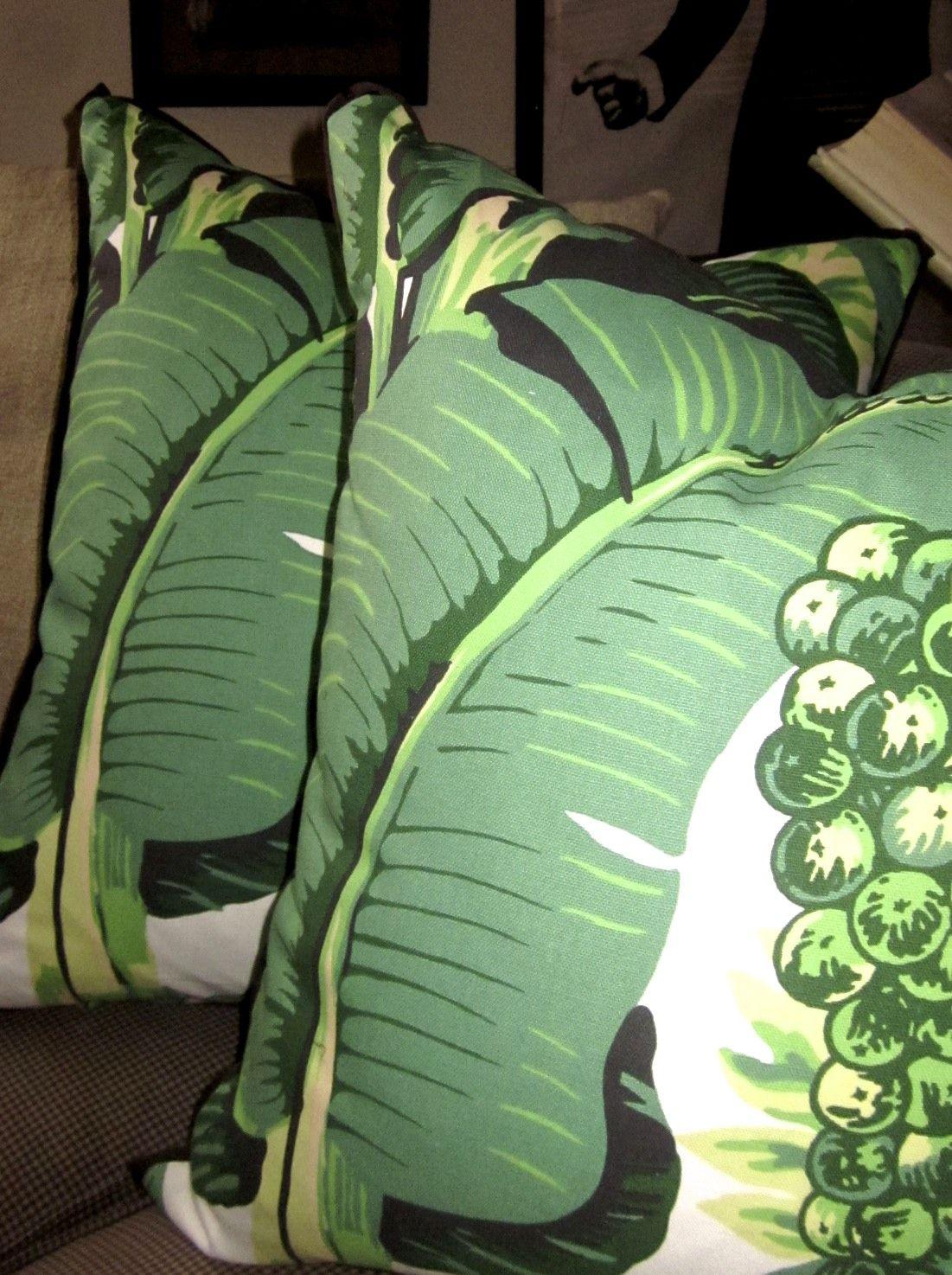 Carleton Varney for Dorothy Draper Palm Fabric with Black