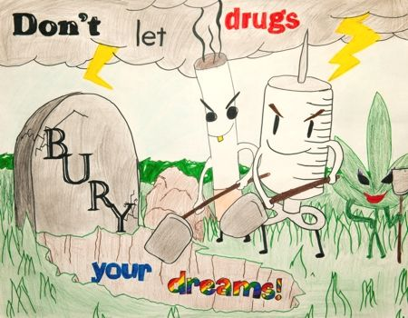 Red Ribbon Week Drug Free Posters Drug Free Quote Poster Drawing