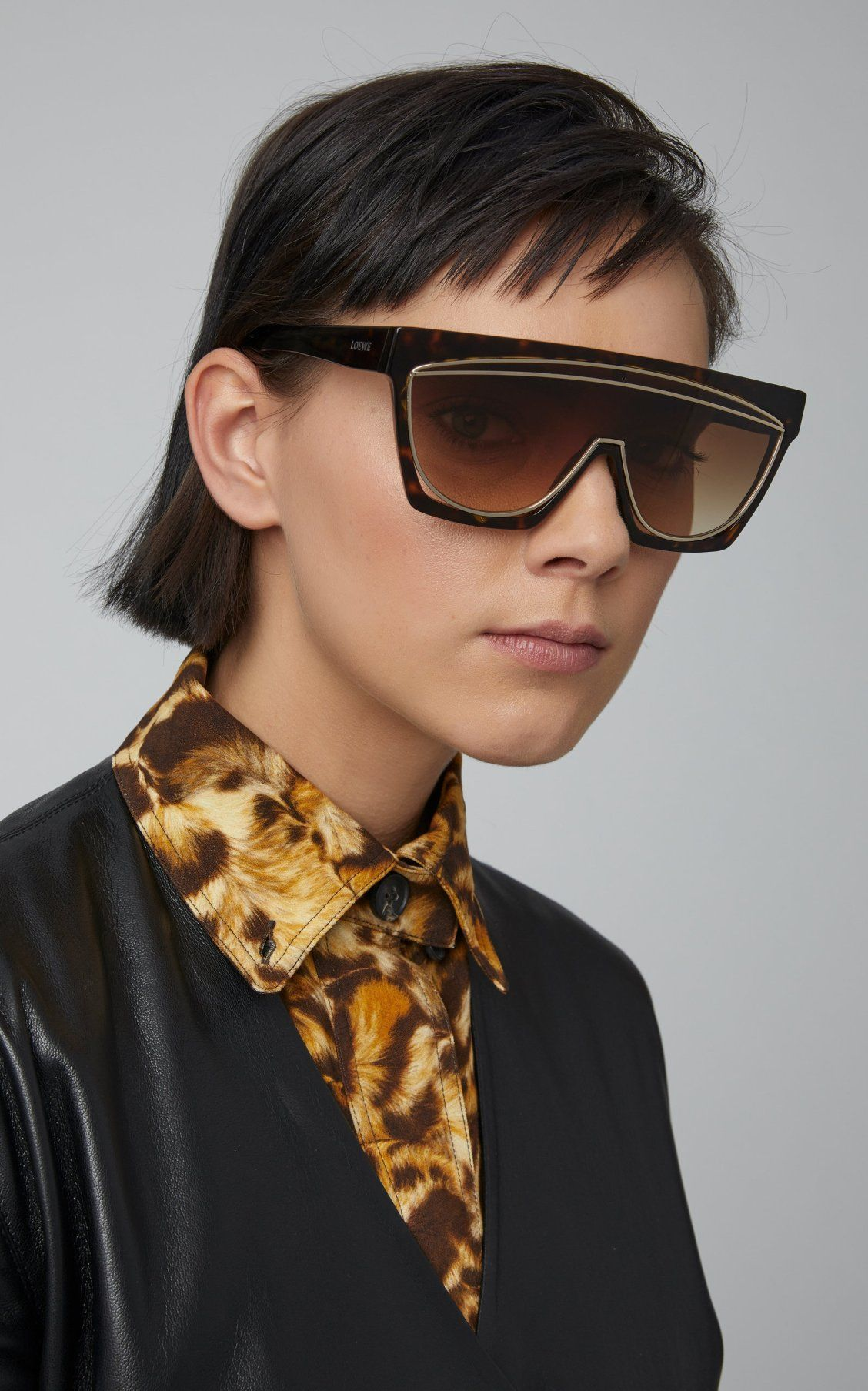 360c62113d Masque Tortoiseshell Acetate Sunglasses by Loewe Sunglasses SS19 ...