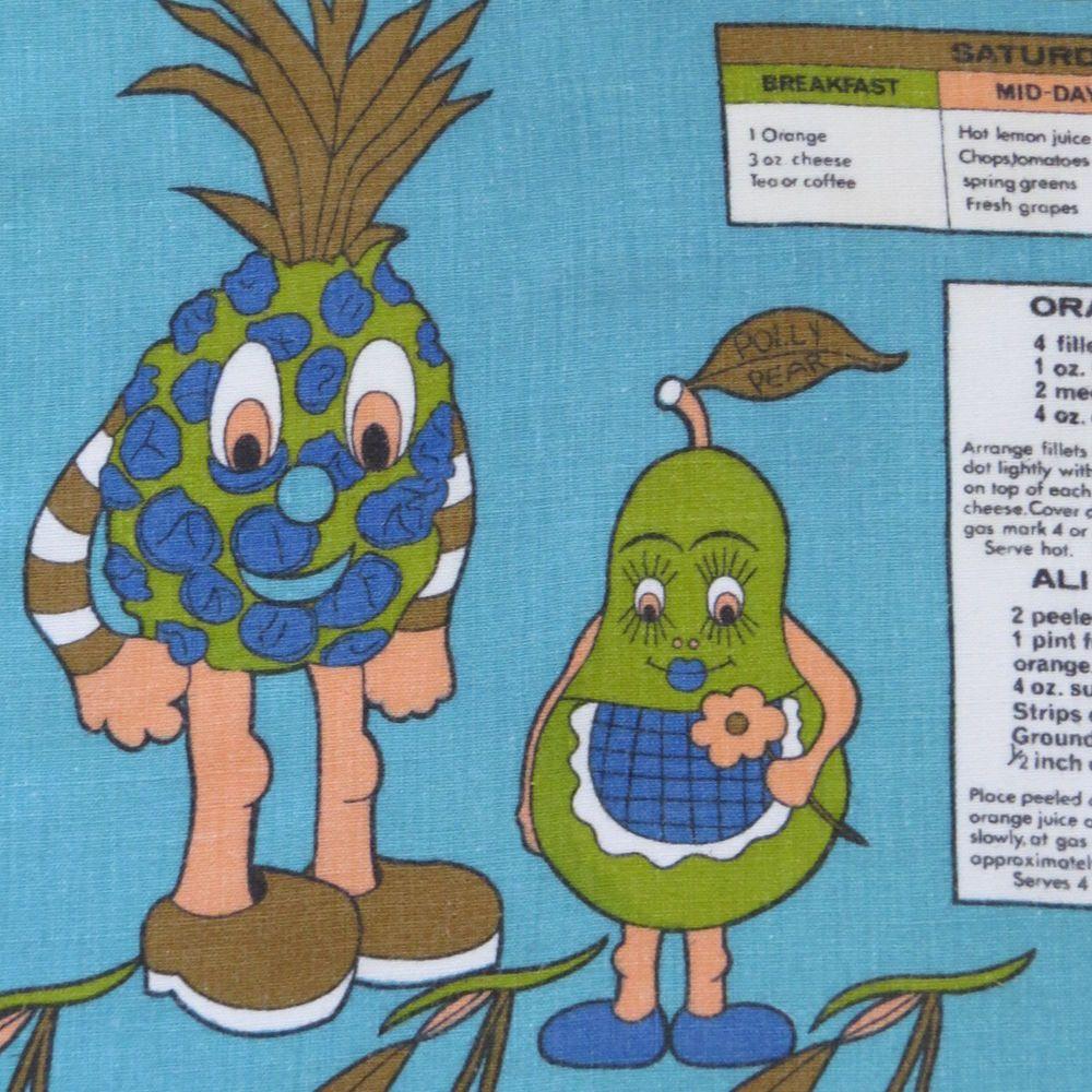 Diet Menus Recipes Anthropomorphic Tea Dish Towel - Novelty ...