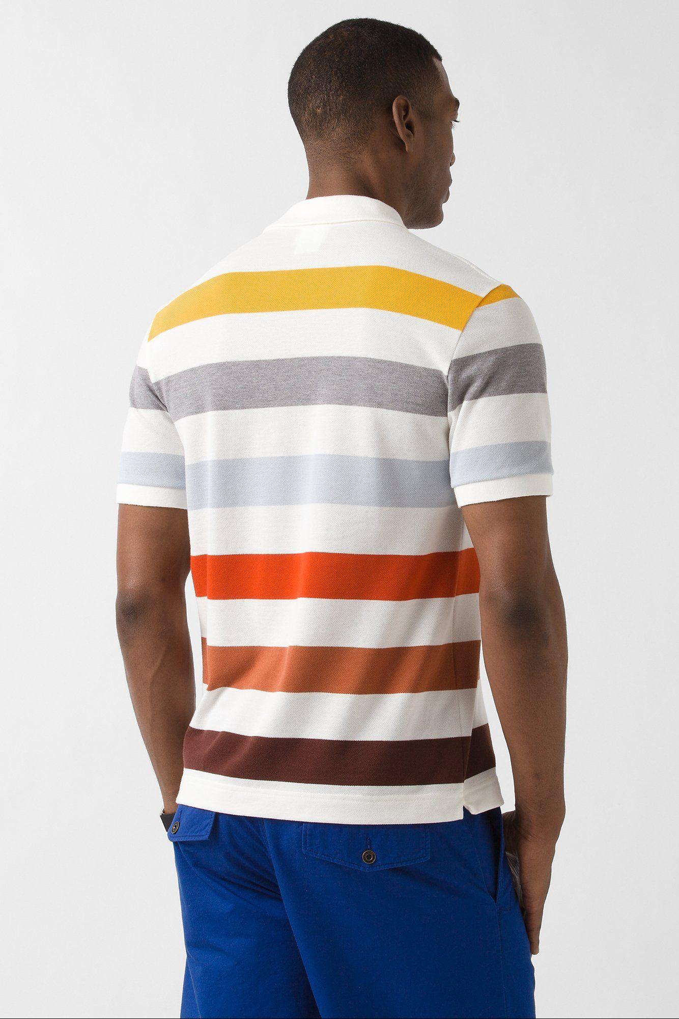 776bcb23 Lacoste Short Sleeve Multi Color Bar Stripe Pique Polo ...