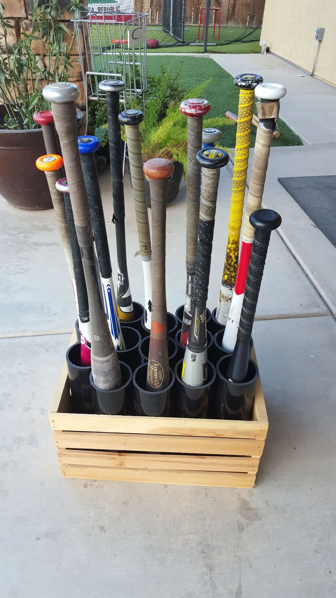 The Finished Product Is A Portable Bat Organizer That Will Fit All Your Baseball Softball Player S Bats Without Being On Floor