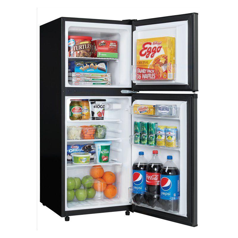 2 Door Compact Refrigerator   Black Stainless   DCR047A1BBSL