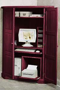 Genial @Overstock   Give Your Home Versatile Style With The Canterbury Tall Corner Computer  Armoire.