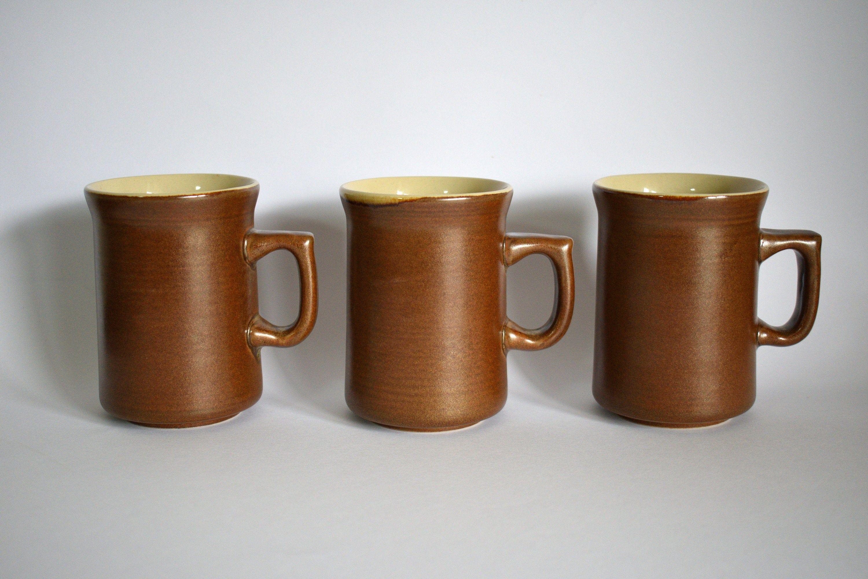Temuka Pottery Riverstone Mugs Vintage 1970s Stoneware