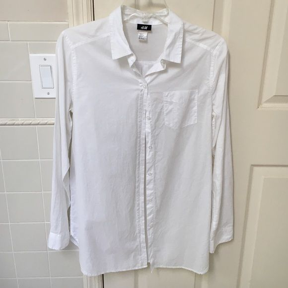 Button-down shirt Worn twice. Great condition- no marks, stains. H&M Tops Button Down Shirts