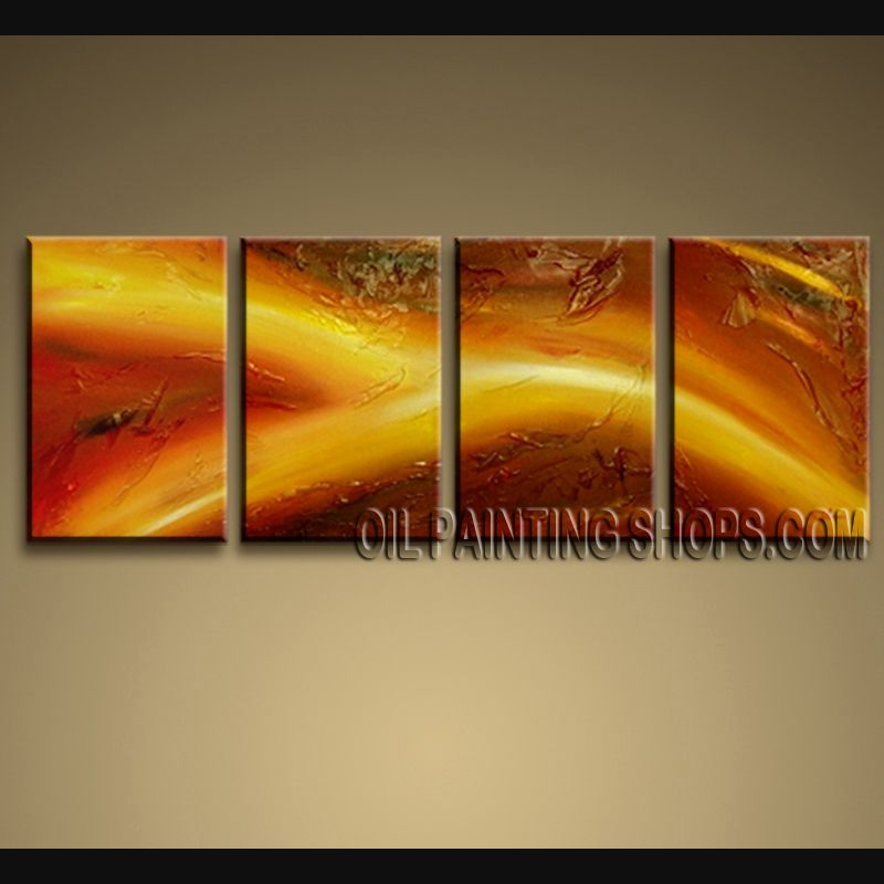Hand Painted Large Modern Abstract Painting Wall Art Inner Framed ...