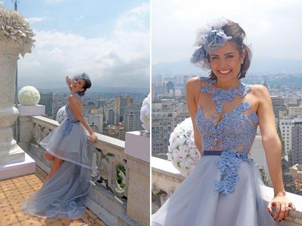 Vestido de casamento de Patrícia Mileto, personagem da atriz Maria Casadevall, em Amor à Vida. Ousada!