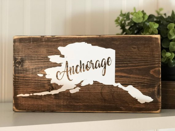 Astonishing Alaska Home Town Wooden Sign Ak Home Town Wood Sign Alaska Home Interior And Landscaping Ologienasavecom