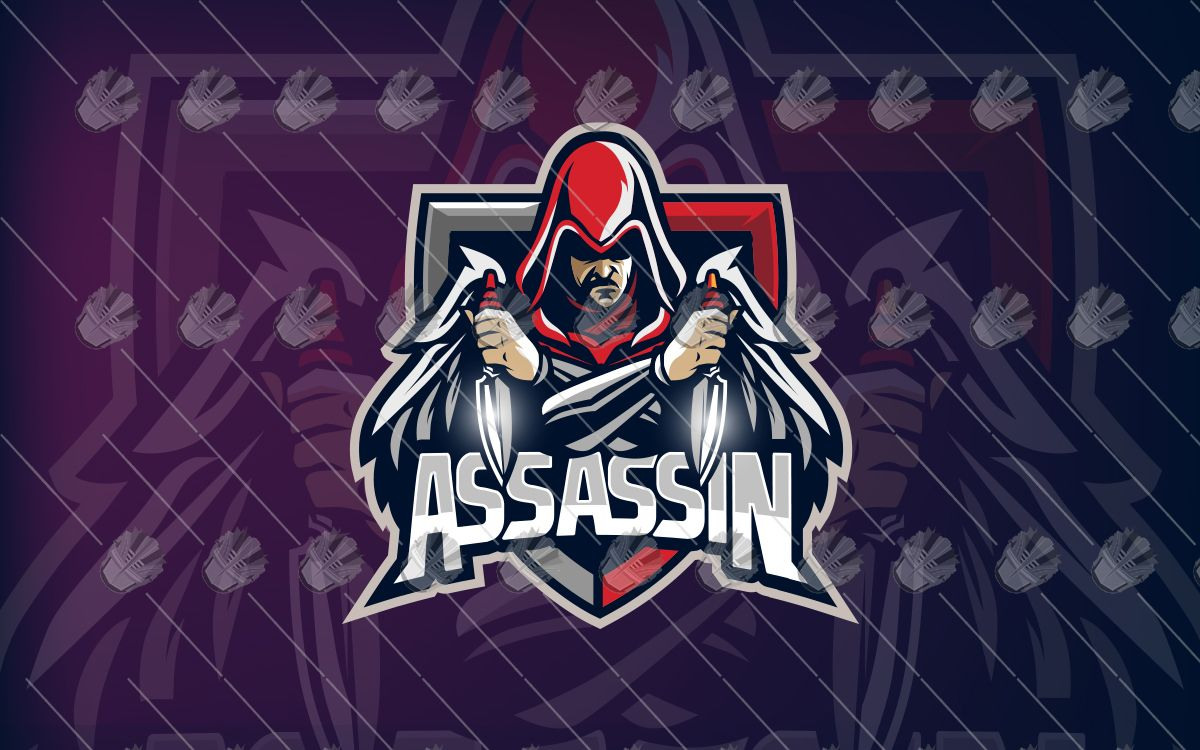 Assassin Esports Logo For Sale Assassin Mascot Logo Lobotz Assassin Logo Esports Logo Game Logo
