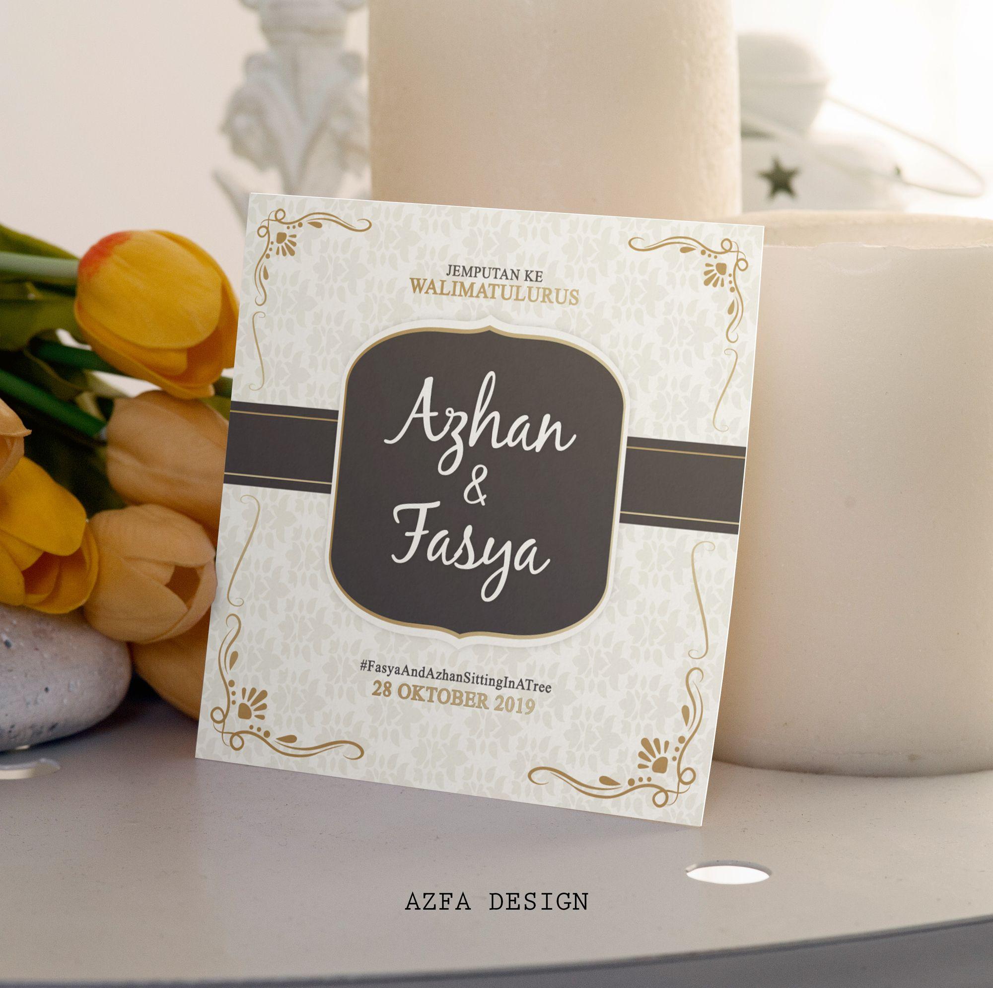 Azfadesign Kadkahwin Jangan Lupa Jemput Tetamu Tempah Kad Kahwin Anda Banyak Sanga Invitation Cards Invitations Cards
