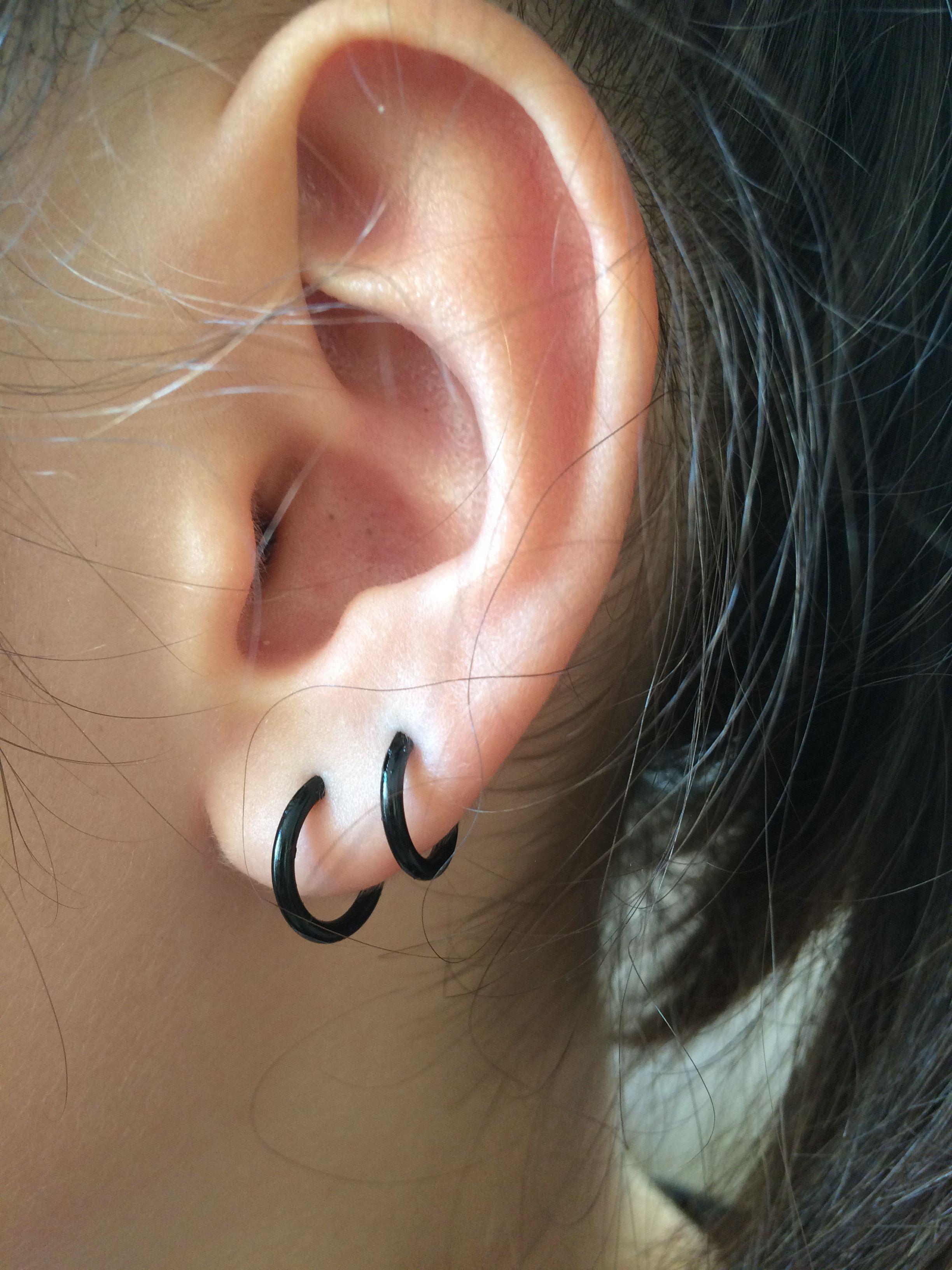 Piercing from nose to ear  Pin by Fatma on Ear Piercings  Pinterest  Ear piercings