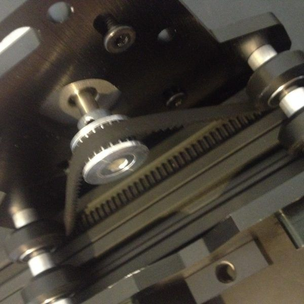 The Everman Belt Drive System Aka Quot Positioner Utilizing Engaged Toothed Gear Belts One Static And One Dynamic Quot Is A Sim Belt Drive Cnc Cnc Machine
