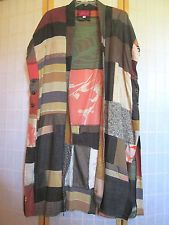 NEW OOAK ART TO WEAR LONG DUSTER WITH ANTIQUE SILK KIMONO PATCHWORK SIZE 1X-2X
