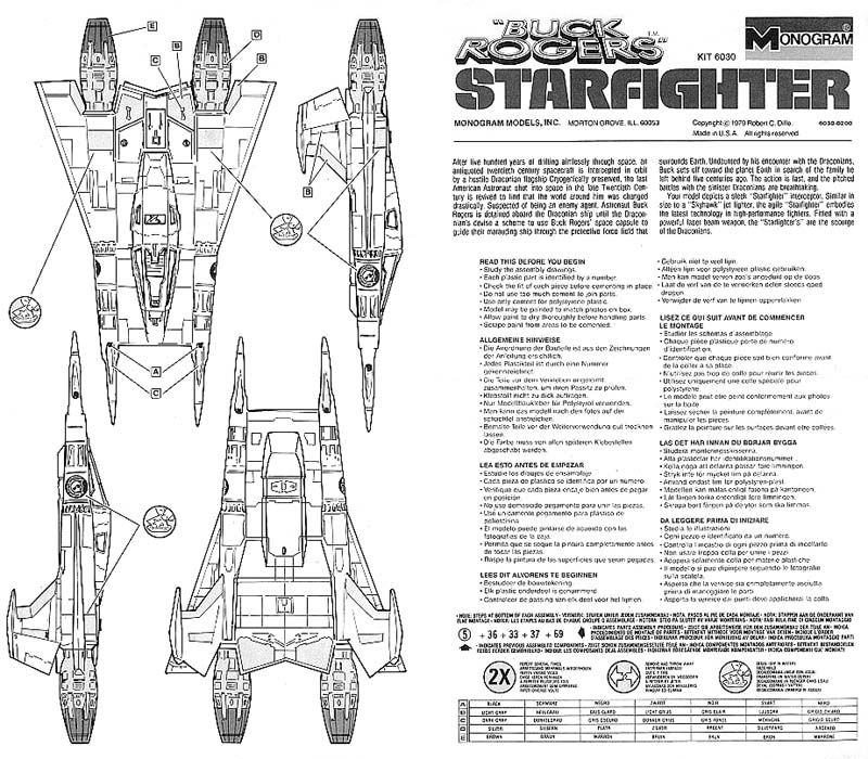 Buck Rogers in the 25th Century starfighter model