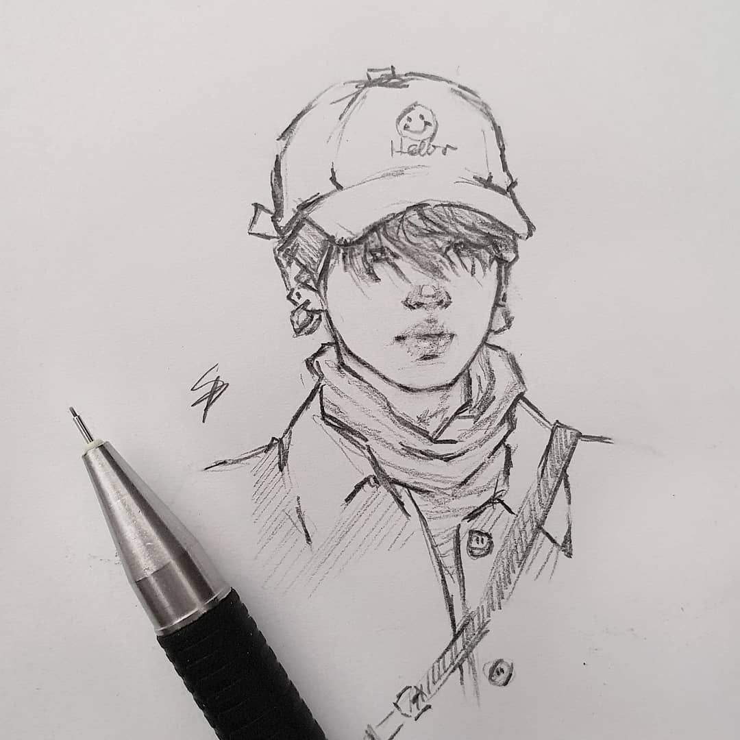 Anime Jimin Fanart Sketch