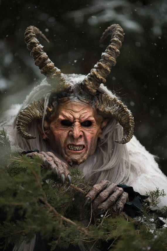 Krampus the Christmas Devil Demon Mask Perchten Masken - Limited