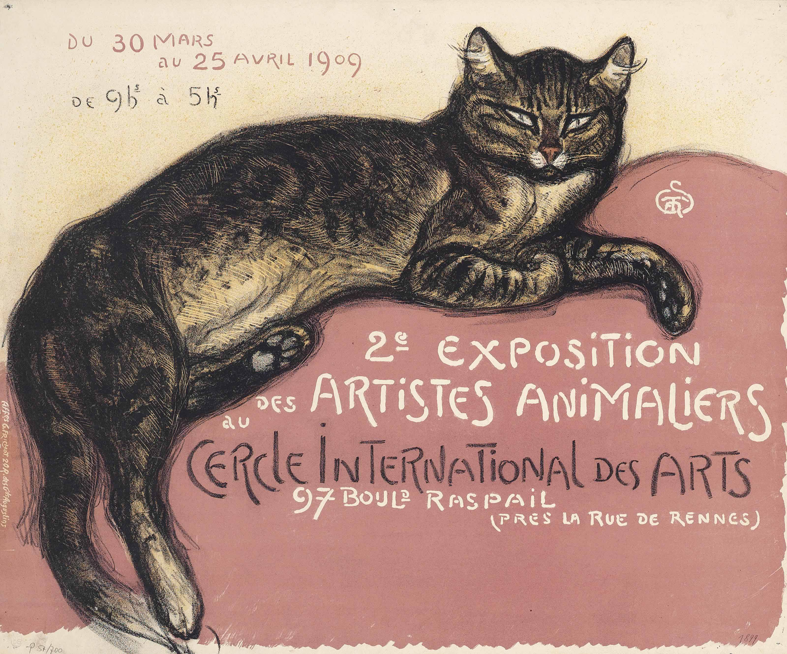 Fine Art Print Exposition Poster Theophile Steinlen Reproduction