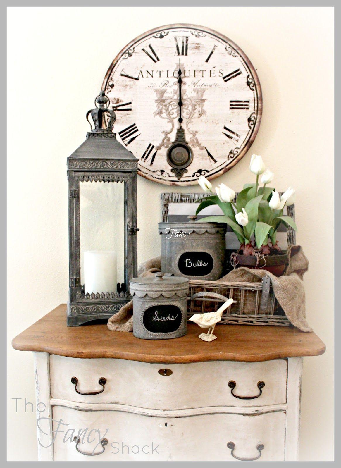 The fancy shack living room reveal cosas de madera para hacer pinterest reloj - Relojes de decoracion ...