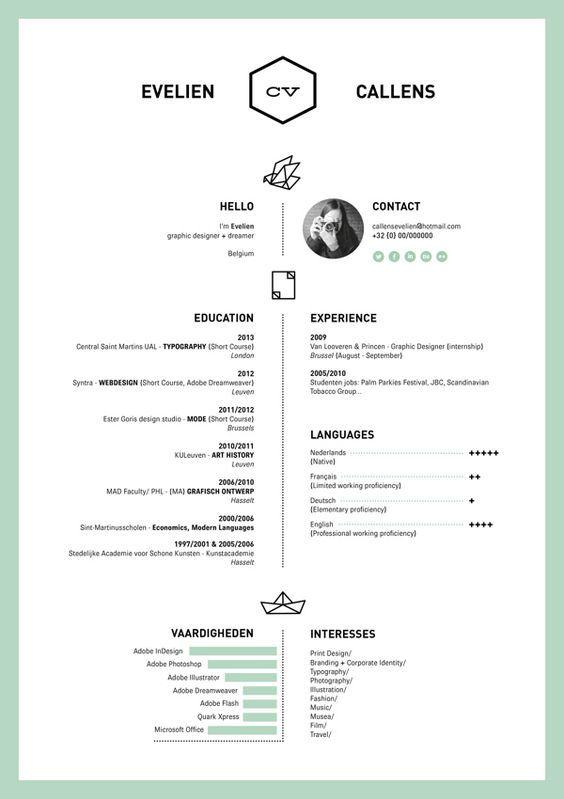 39 fantastically creative resume and cv examples - Resume Cv Sample