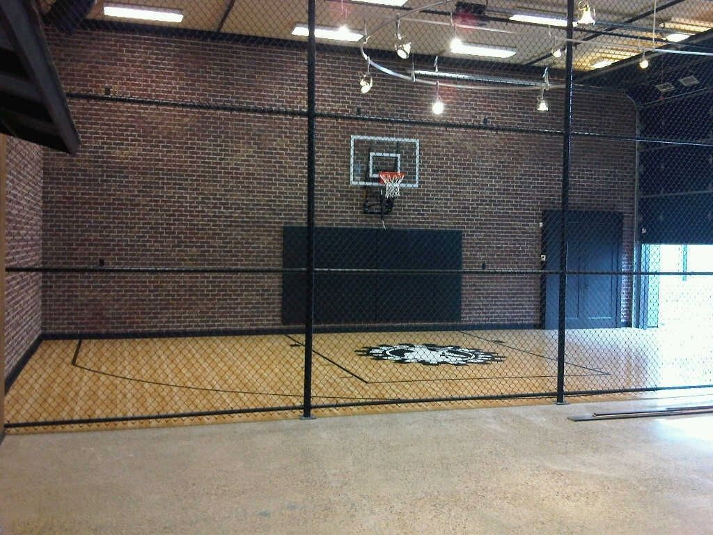 Check out this home gym! Indoor basketball court, Indoor