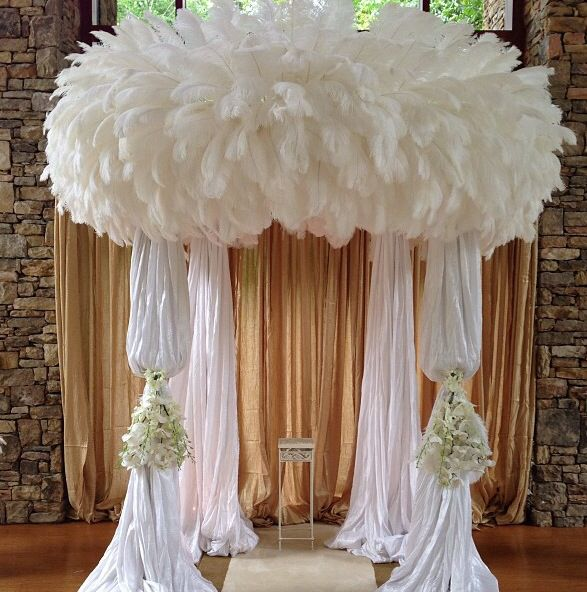 Gorgeous Feather Chuppah In 2019