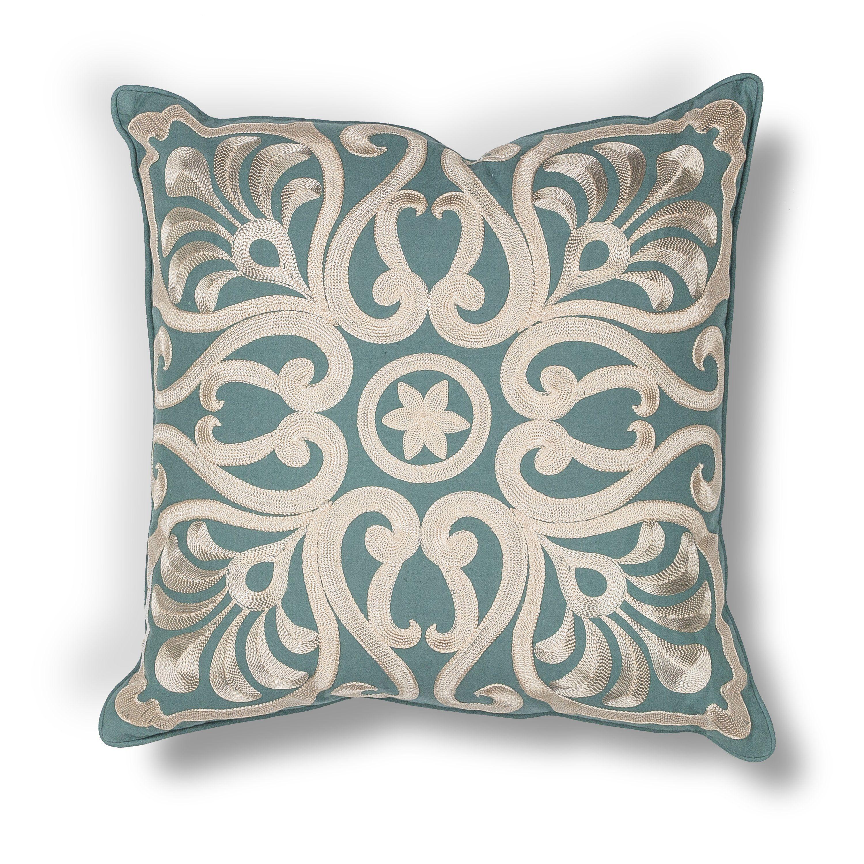 Damask L189 Teal  Pillow