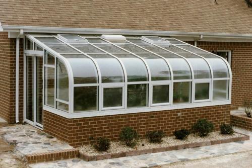 Residential Curved Eave Solarium Home Landscaping Sunroom Kits Solarium