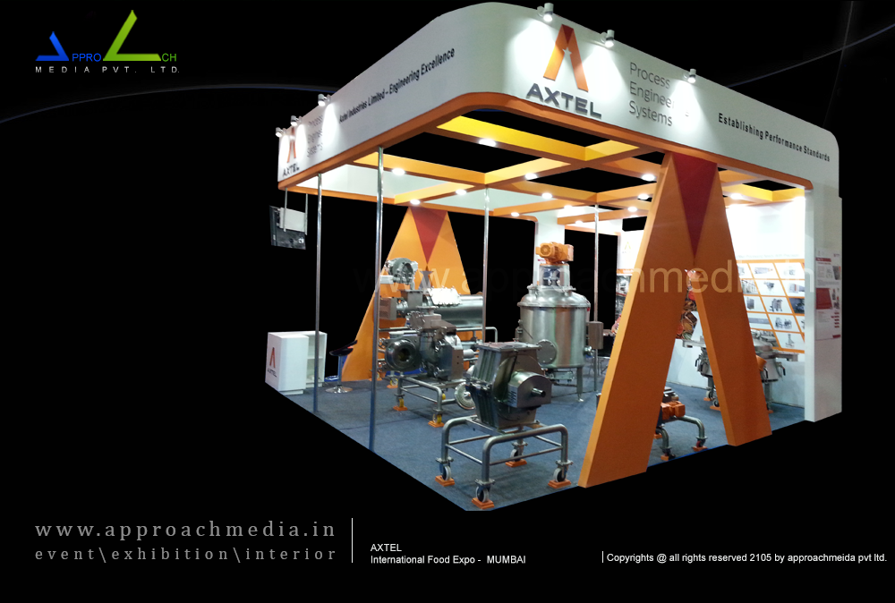 Exhibition Stand @ International Food Expo •Stand Design: AXTEL