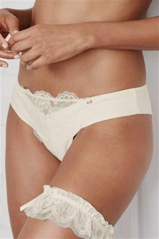 Looking for the perf  Looking for the perfect wedding lingerie? Our luxury ivory lace brazilian briefs definitely need to be a part of it.