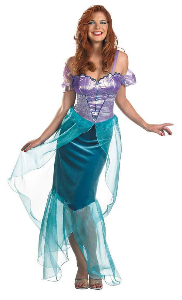 awesome Princess Ariel Costume For Adults Part - 9: Adult Deluxe Ariel Mermaid Costume Disney Princess Costumes