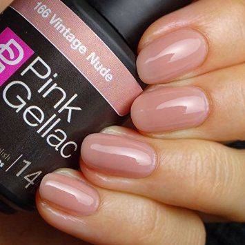 Sheer Pink Gel Polish First Kiss With Images Kiss Gel Nails Pink Gel Nails Pink Acrylic Nails