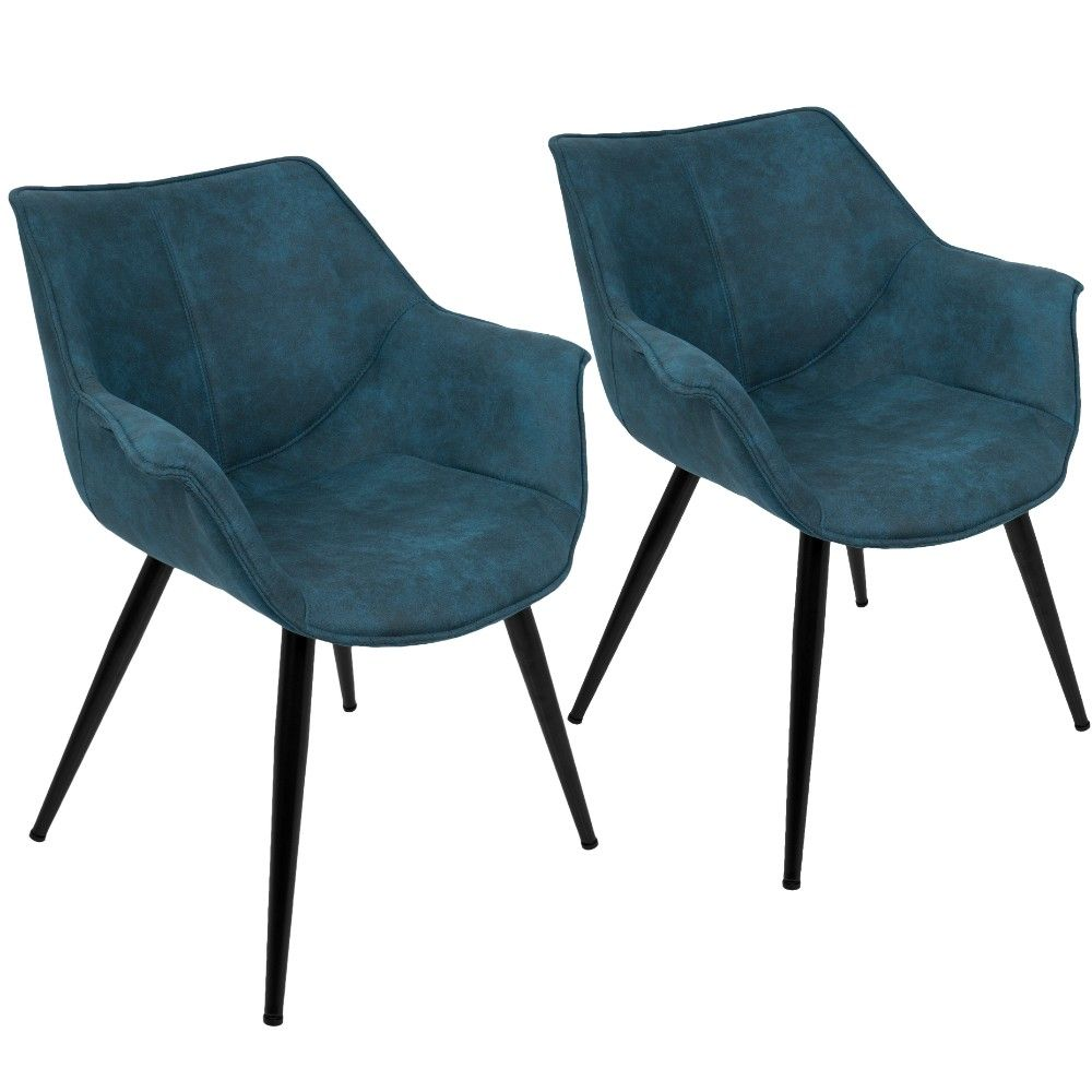 Best Wrangler Contemporary Accent Chair In Blue Set Of 2 400 x 300