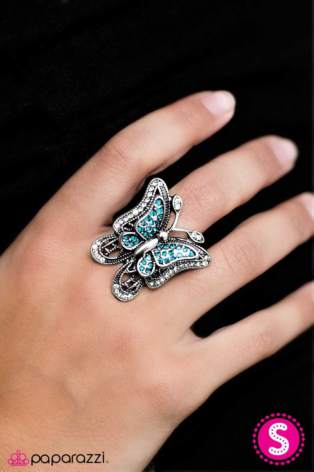 Free To Fly Blue rings, Butterfly ring, Blue earrings