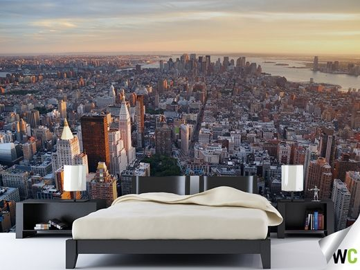 wall mural new york city bedroom ideas forward wall mural of an. Black Bedroom Furniture Sets. Home Design Ideas