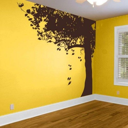 Beau Giant Corner Tree With Falling Leaves Trees Branch Leaf Home Art Decals Wall  Sticker Vinyl Wall Decal Stickers Living Room Bed
