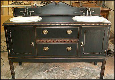 Badkamer Meubel Antiek : ≥ antieke badkamer meubel kast marmer blad badkamer