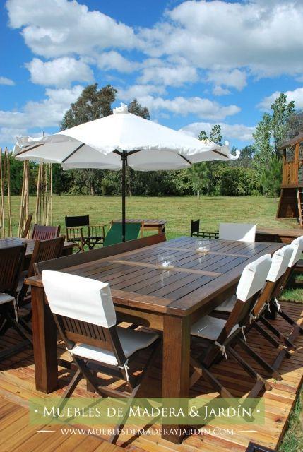 Mesas y sillas de Exterior | Suelos de exterior, Mesas de ...