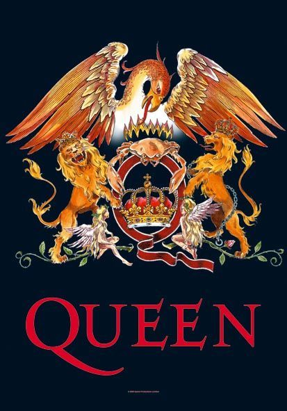 This album art and their famous insignia was made up by Freddie