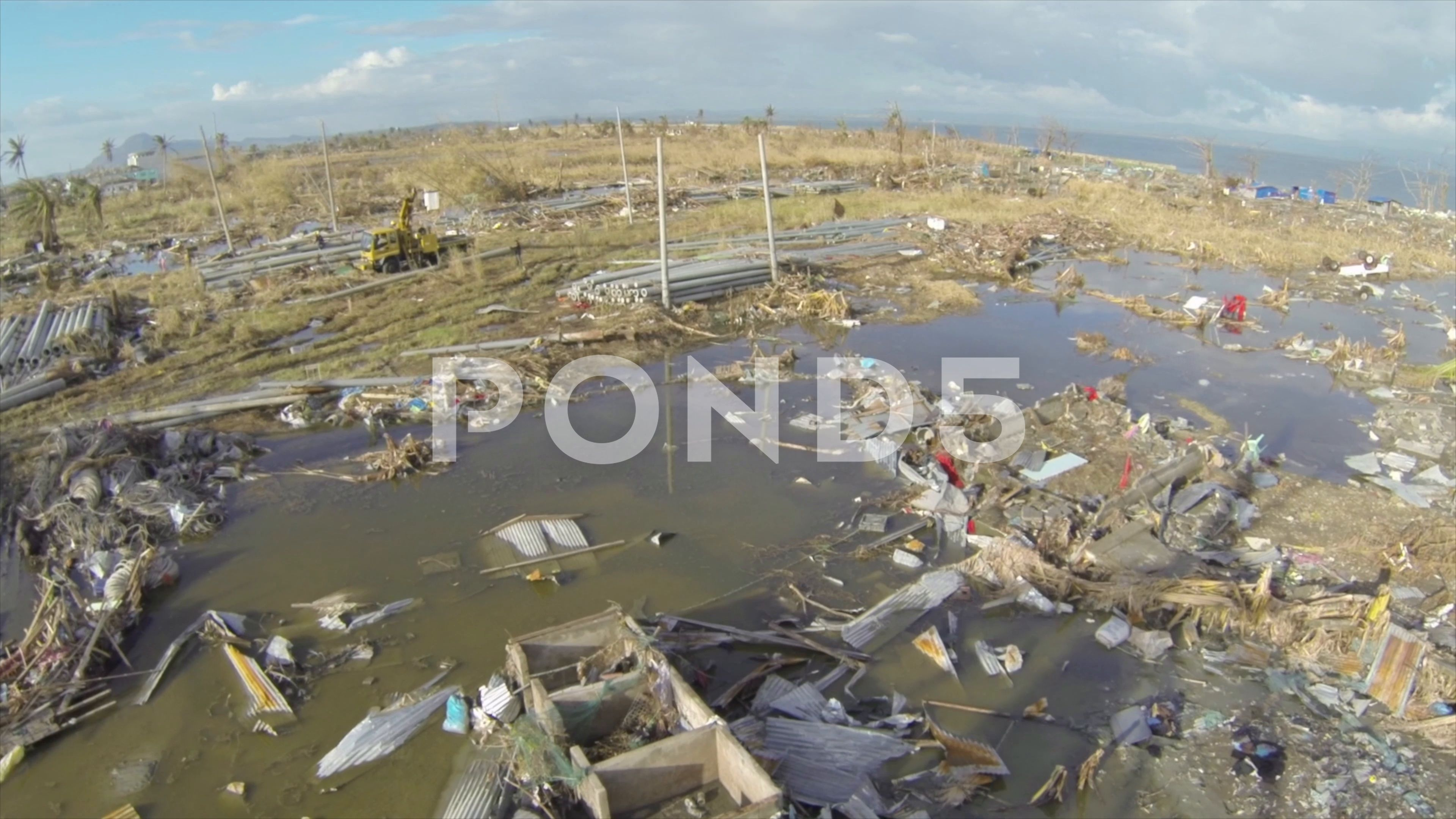 Drone Footage At Tacloban The Philipines After The Cyclone Hurricane Haiyan Stock Footage Tacloban Philipines Drone Footage Tacloban Cyclone Hurricane
