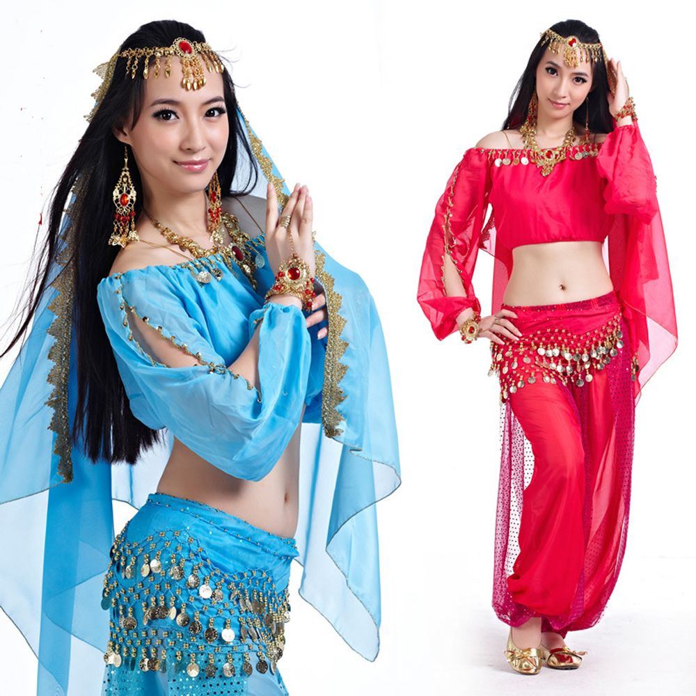 33a5b5009e84 Fashion Bollywood Indian Belly Dance Costumes For Women 2 Piece  Set ...