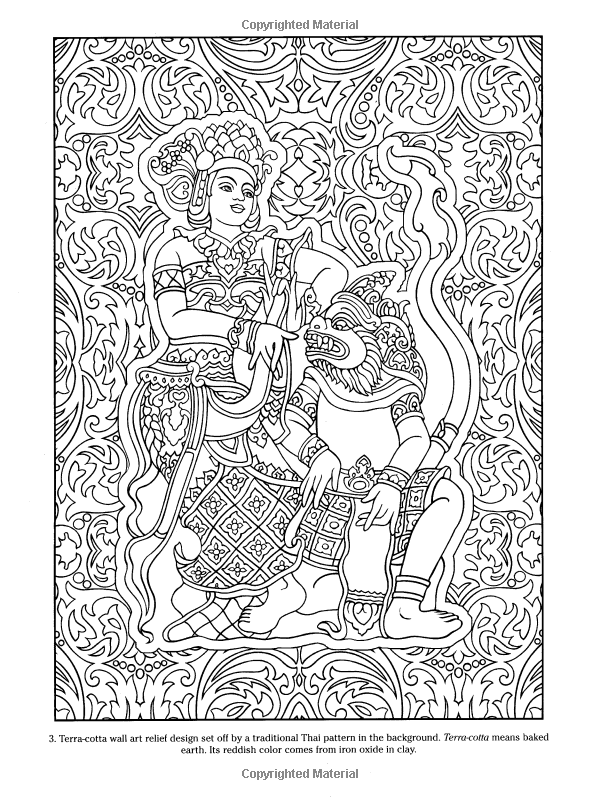 Thai Decorative Designs (Dover Coloring Books): Marty Noble ...