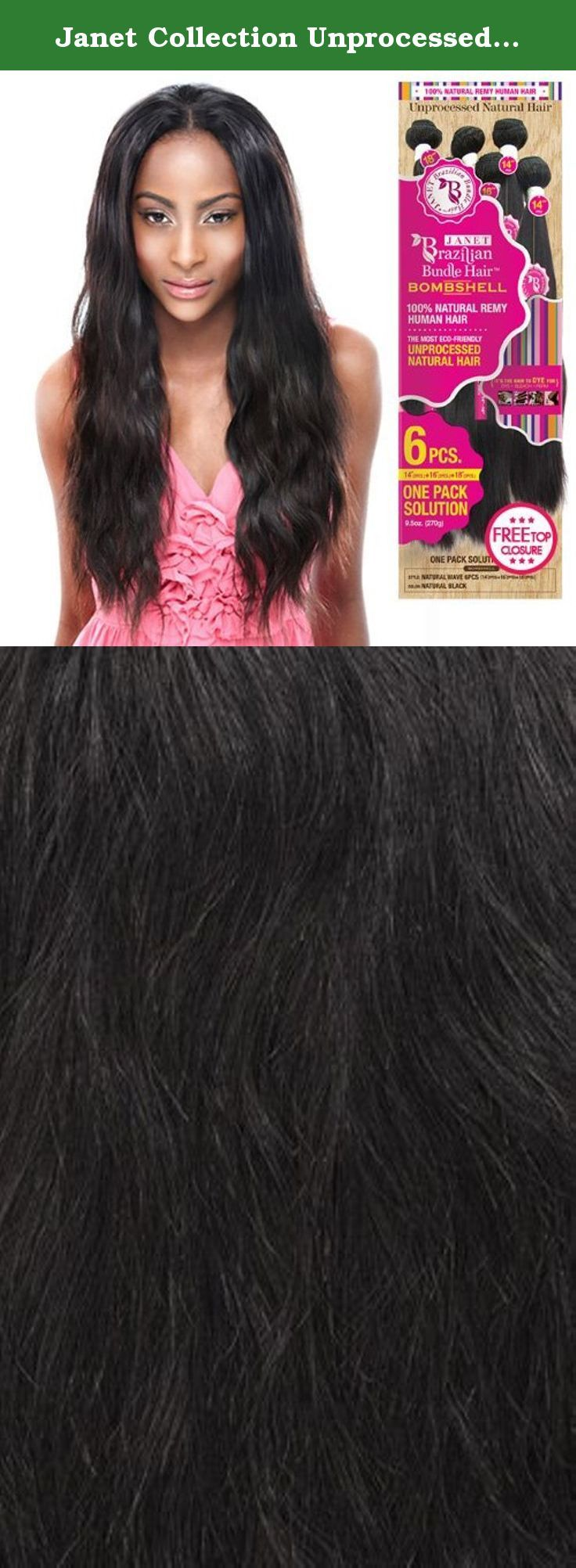 Janet Collection Unprocessed Brazilian Virgin Remy Human Hair Weave
