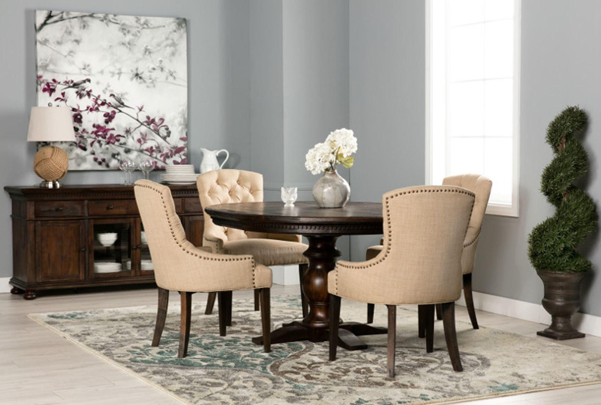 Jefferson 5 piece extension round dining set 360