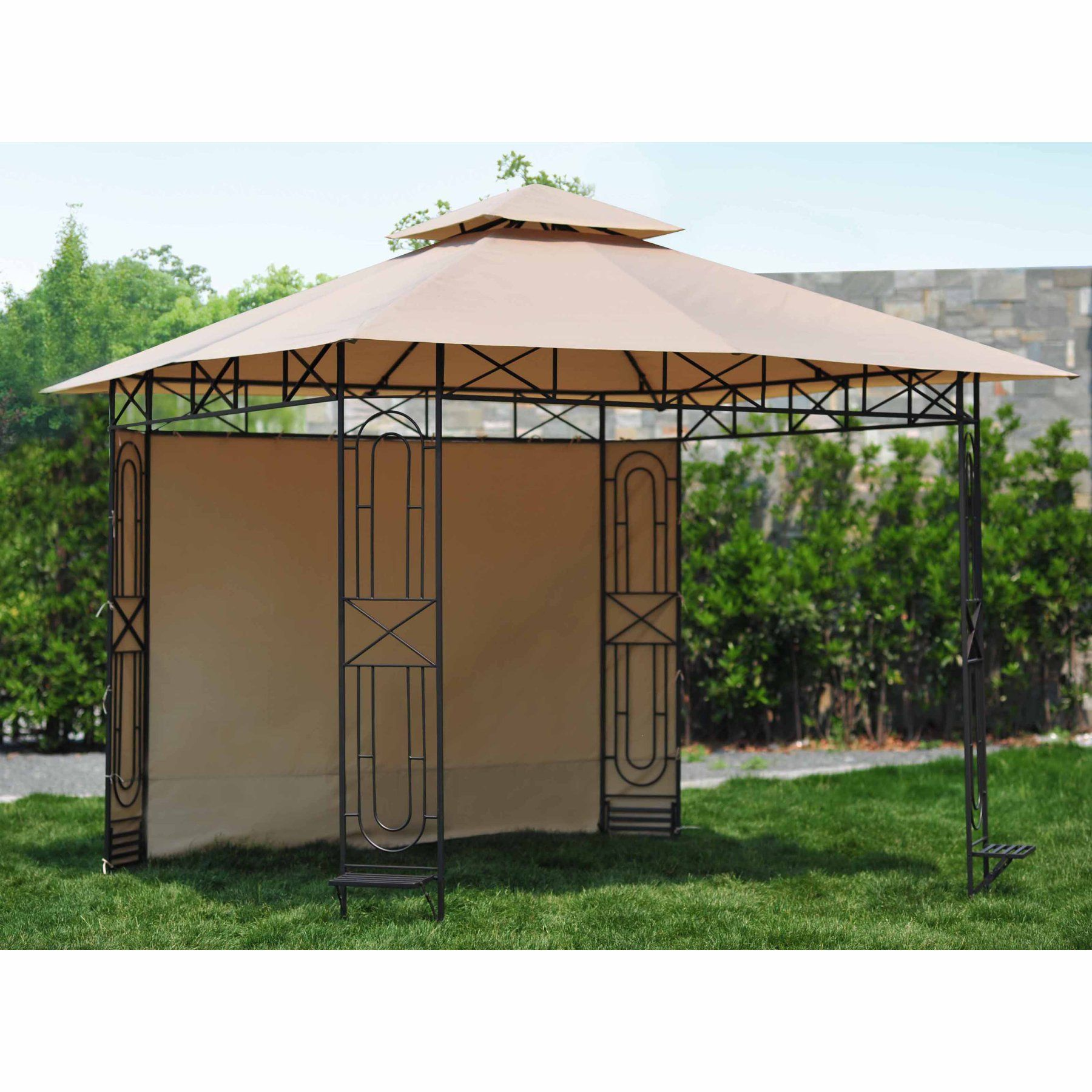 Sunjoy 10 X 10 Ft Replacement Sunshade For L Gz071pst 3 Gardenscape Gazebo 110109344 Gazebo Replacement Canopy Gazebo Outdoor Gazebos