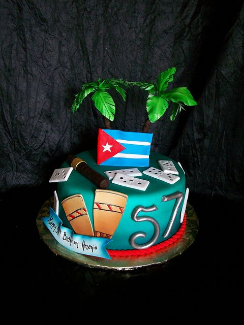 cuban cakes Cuban Themed Birthday Cake Cuban Cakes and desserts
