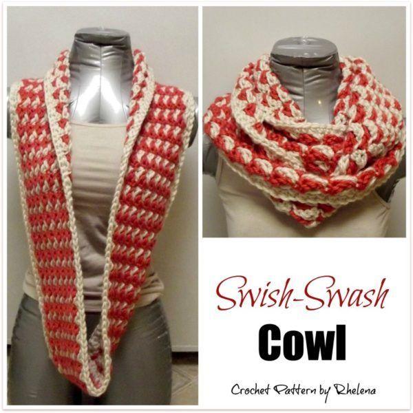 Swish-Swash Cowl ~ FREE Crochet Pattern | Klamotten | Pinterest ...